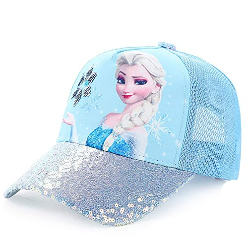 Fancyland ELSA Basecap Kinder Mädchen Jungen Glitzer-Trucker Cap Frozen 2 Eiskönigin Kinder Anna und ELSA Sonnenhut
