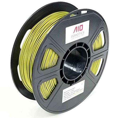 AIO Robotics filamento stampante 3D Premium, metallo PLA, bobina da 0,5 kg, diametro 1,75 mm, bronzo metallizzato