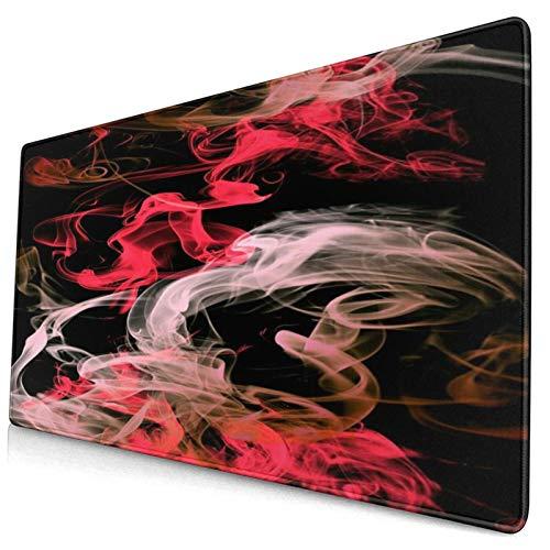 LASINSU Alfombrilla Gaming,Cuadro de Arte Abstracto,Rojo y R
