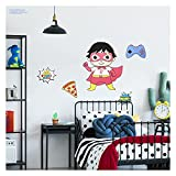 Ryan's World Wall Decals - The Ultimate Red Titan Ryan Vinyl Stickers with 3D Augmented Reality Interaction - 20' Tall x 16' Wide Ryan's World Room Decor