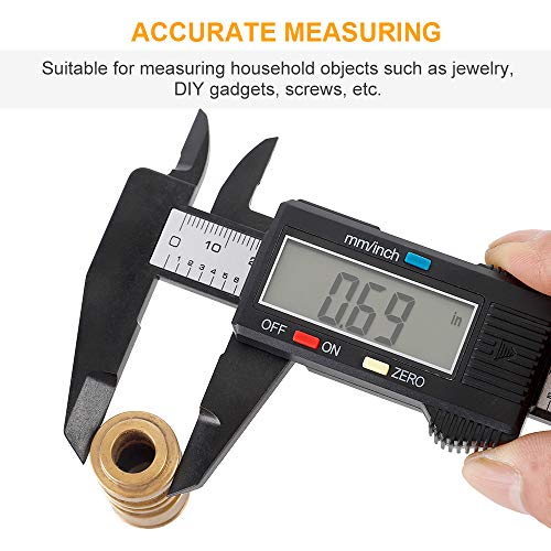 Digital Caliper, Sangabery 0-6 inches Caliper with Large LCD Screen, Auto - Off Feature, Inch and Millimeter Conversion Measuring Tool, Perfect for Household/DIY Measurment, etc