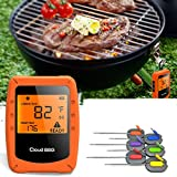 KUNSE 6 Probes <span class='highlight'>Wireless</span> Smart <span class='highlight'>BBQ</span> <span class='highlight'><span class='highlight'>Thermometer</span></span> Oven <span class='highlight'>Meat</span> Food bluetooth Wifi For IOS Android