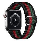 amBand Solo Loop Cinturino in Nylon Comapatibile con Apple Watch 38mm 40mm 41mm 42mm 44mm 45mm, Leggero Traspirante Cinturino di Ricambio Sportivo per iWatch Series 7 6 SE 5 4 3 2 1