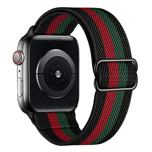 amBand Solo Loop Cinturino in Nylon Comapatibile con Apple Watch 38mm 40mm 42mm 44mm, Leggero Traspirante Cinturino di Ricambio Sportivo per iWatch SE Series 6 SE 5 4 3 2 1