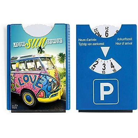 Der Karten Shop De Fun Spaß Motiv Parkscheibe Mit Eiskratzer Und Gummilippe Vw Bus Bulli Let The Sun Shine In Auto