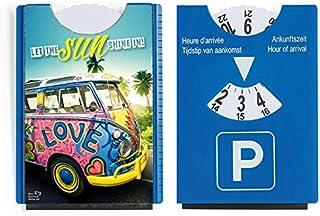 Der Karten Shop.de Fun Spaß Motiv Parkscheibe mit Eiskratzer und Gummilippe VW Bus Bulli Let The Sun Shine in