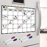 Magnetisches Whiteboard Kühlschrank Kalender - Menü-Planer, Memo oder wöchentliche Einkaufsliste...