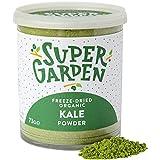 Supergarden Polvo de col rizada orgánica liofilizada - Producto 100% puro y natural - Apto para veganos - Sin azúcares, aditivos artificiales ni conservantes añadidos - Sin gluten - No OMG
