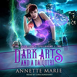Dark Arts and a Daiquiri     The Guild Codex: Spellbound Series, Book 2              By:                                                                                                                                 Annette Marie                               Narrated by:                                                                                                                                 Cris Dukehart                      Length: 7 hrs and 39 mins     44 ratings     Overall 4.8