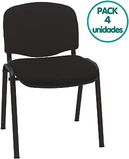 9b385105e Centrosilla Silla confidente ISO apilables con Acolchado Especial Ideal  para Salas reuniones, conferencias tapizadas (