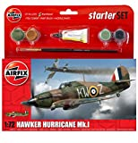 Airfix - Ai55111 - Hawker Hurricane Mk1 - Kit De Démarrage - 51 Pièces - Échelle 1/72