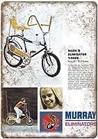 マレーエリミネーターマークII自転車ヴィンテージティンサインの装飾ヴィンテージ壁金属プラークカフェバー映画ギフト結婚式誕生日警告のためのレトロな鉄の絵