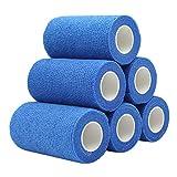 COMOmed Non-woven fabric self-adhesive Bandage venda cohesiva Mascota Vendaje Azul 10cmX4.5m 6 Volumen
