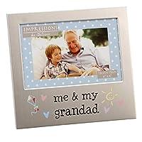 Oaktree Gifts Me & My Grandad Aluminium Photo Frame 4 x 6 [並行輸入品]