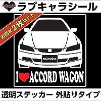 アイラブ アコードワゴンCF6/7 リメイクラブキャラステッカー 2枚セット