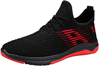 Vickyleb Trail Running Shoes Men's Fashion Running Shoes Lightweight Breathable Sneakers Casual Athletic Walking Shoes