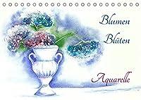 Blumen Blueten Aquarelle (Tischkalender 2022 DIN A5 quer): Handgemalte Blumenaquarelle (Monatskalender, 14 Seiten )