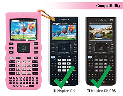 Sully Silicone Skin for Ti Nspire CX/CX CAS Handheld (Pink) w/Screen Protector - Silicon Cover Case for Ti-Nspire CX Hand held Graphing Calculator - Protective & Anti-Scretch Skins & Screen Covers Photo #5