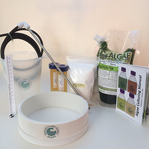 Algae Research Supply Spirulina Farming Kit, Perfect for School Science Fairs/Projects, Experiments & Classrooms