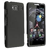 Black Rubberized Hard Case Cover for Motorola Droid RAZR HD / XT926