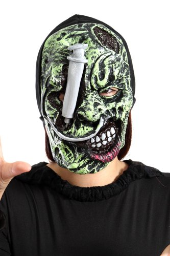 Seruna Li 05 , Masque Qui Donne des frissons pour Halloween Costume, soirée à thème, Masque d'Halloween pour Costumes d'Horreur, en Taille Unique , va Bien à Tout Le Monde