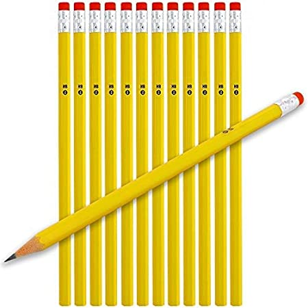 HB Pencils with Eraser top Arts and Crafts pack of 15 office school home