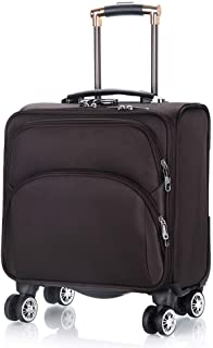 Trolley Case 18 inch Super Lightweight Expandable Travel Carry On Cabin Hand Luggage Suitcases with 4 Wheels, Business Trolley Case with Laptop Compartment, Approved for Most Airlines. Travel Luggage