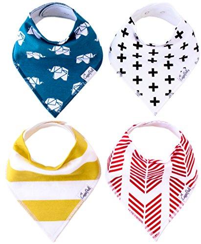 Copper Pearl Bébé Bandana Bave Bibs Pour Bave Et Dentition 4 Pack Set cadeau pour les garçons et les filles « Set Indie »