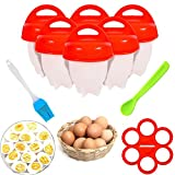 No.1 Hard Boiled Silicone Egg Cooker Without the Shell as seen on TV, Non Stick Egg Poacher with Holder