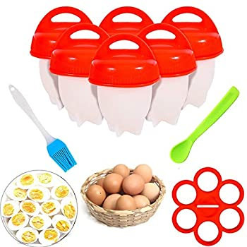 No.1 Hard Boiled Silicone Egg Cooker Without the Shell as seen on TV Non Stick Egg Poacher with Holder