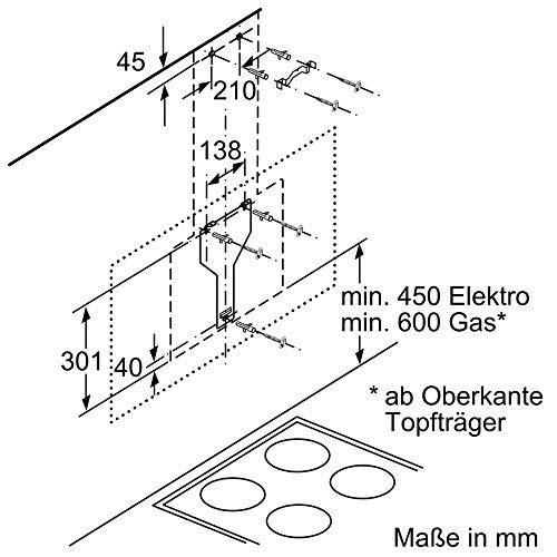 Neff D95IPP1N0 Dunstabzugshaube schräg N70 / 90cm / Abluft oder Umluft / EfficientDrive / TouchControl / Energieeffizienz A / Klarglas / schwarz - 7