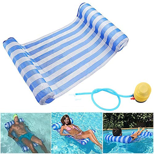 GEYUEYA Home Multi-Purpose Water Hammock Pool Inflatable Rafts Swimming Pool Air Lightweight Floating Chair Compact and Portable Swimming Pool Mat for adults and Kids Bearing 120kg