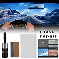 4枚 車の窓ガラス修理キットプロのDIY車のフロントガラスウィンドウズ修復自動ガラスツールフロントガラス修理車のスタイリング