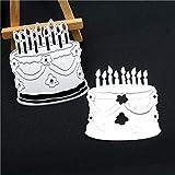 KKYHV Troqueles de Corte Metal Pastel de cumpleaños Vela Troqueles de Corte de...