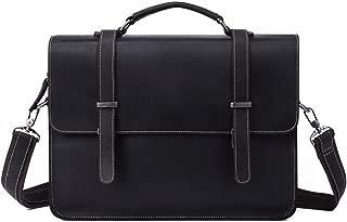 Mens Bag Business Briefcase Casual Fashion Men's Handbag Cross Section Shoulder 14 Inch Computer Bag Large Capacity Messenger Bag Black Brown Retro Leather Men's Bag High capacity