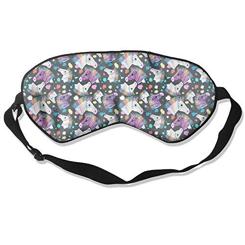 Rainbow Zebra Spandex Natural Silk Sleep Mask & Blindfold Super-smooth Eye Mask