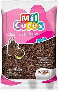MIL CORES Confeitos Chocolate Granulado Macio 500 gr. | Confectionery Chocolate Sprinkles 1.1 lb. - Gluten Free.