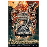 Jurassic World Fallen Kingdom 2018 película dinosaurios póster de película imagen artística lienzo grande decoración de impresión de pared de habitación -50x75cm sin marco