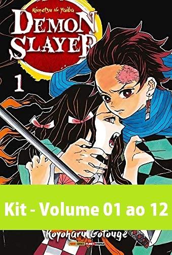 Kit - Demon Slayer: Kimetsu No Yaiba - Volume 01 ao 12