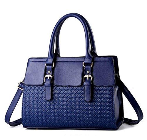 Sacs à Main PU Messenger Sac Mode Sauvage épaule Sac à Main Big Bag Cadeau De Noël,Blue-OneSize