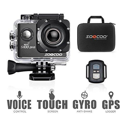 SOOCOO Sport Action Camera, UHD 4K WiFi Impermeabile Sport Video Camera 20MP 170Gradi grandangolare Schermo LCD da 5,1cm/g Telecomando/GB Micro SD Card/2batterie Ricaricabili