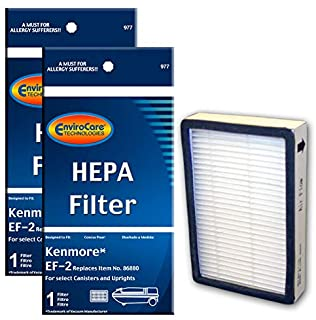 EnviroCare Replacement Vacuum HEPA Filters for Kenmore Progressive EF-2 Machines 2 Filters