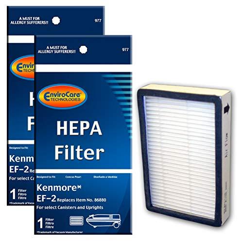 EnviroCare Replacement Vacuum Cleaner HEPA Filters for Kenmore Progressive EF-2 Machines 2 Filters