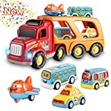 Toys for 3 4 5 6 Year Old Boys, Kids Toys Car for Girls Boys Toddlers, 5 in 1 Friction Power Toys...
