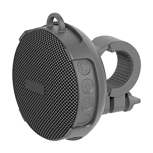 Mini Altavoz Bicicleta IPX7 Impermeable Bluetooth Inalámbrico Speaker con Gancho Resistente, 5.0 Altavoz Bluetooth, 10 Horas de Reproducción, para Deporte, Ciclismo, Montaña, Playa, Senderismo