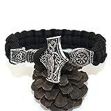 Viking Mjolnir Beads Bracelet, Norse Bangle, Lunavin Thor's Hammer Bracelet Jelwerly for Men