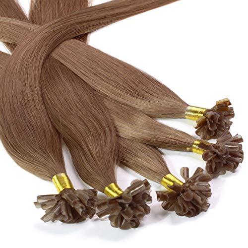 Hair2Heart 50 x 0.5g extensions cheveux keratine à chaud - 60cm, couleur #10 brun cendres, lisse