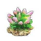 Plantas de acuario artificiales Resina de arrecife de coral artificial Sea Rock Cave Hábitat de peces para adornos de acuario Paisaje de pecera para paisaje de pecera (Color: Color de la foto, Tamaño: