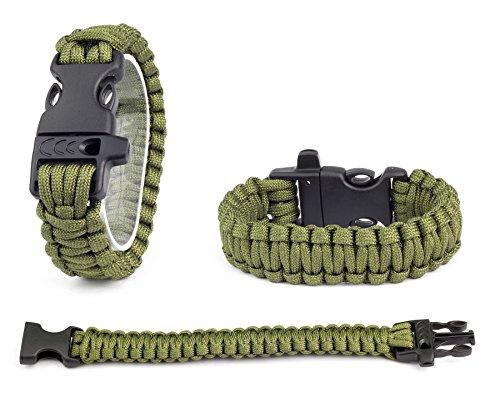 Inox Trade Neue Survival Outdoor Überleben Paracord Armband mit Pfeife viele Farben