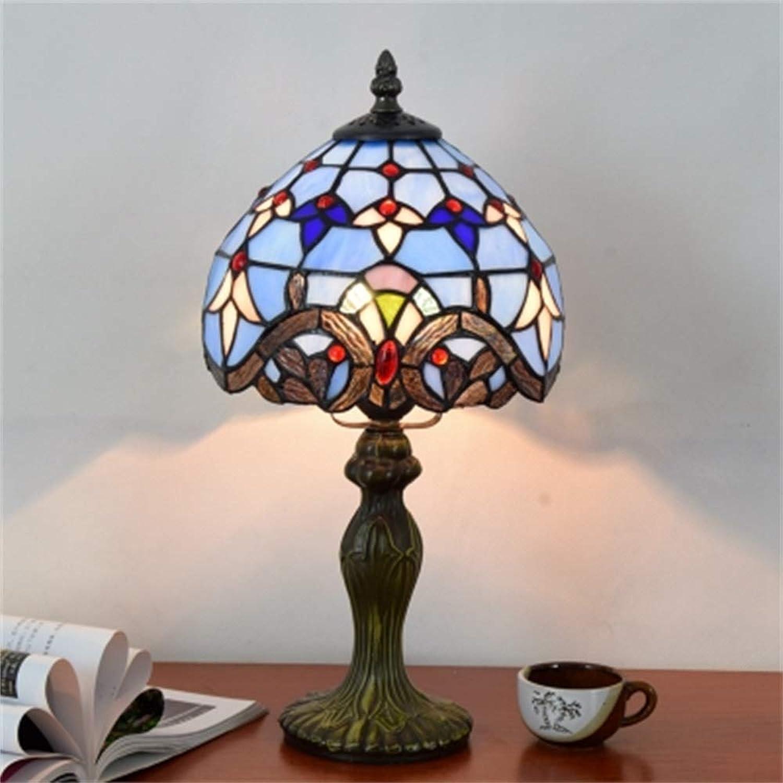 Xiuxiu Europäische Kreative Retro Glasmalerei Tischlampe Schlafzimmer Schlafzimmer Schlafzimmer Nachttischlampe Esszimmer Wohnzimmer Bar Dekoration Tischlampe B07JGVMB9D | Feinbearbeitung  a09762
